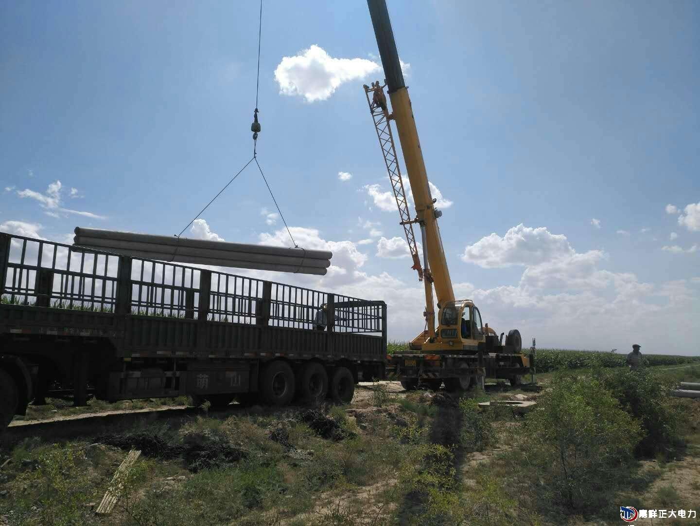 甘肃威武古浪县8米预应力水泥电线杆完成订单