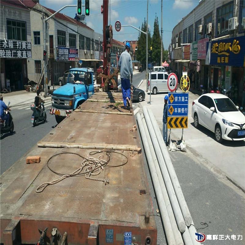 安徽淮南市寿县瓦埠镇渡口15米电杆电线杆到位