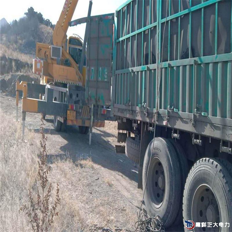 15米费预应力电线杆发往河北承德兴隆县混凝土电杆20根完成订单