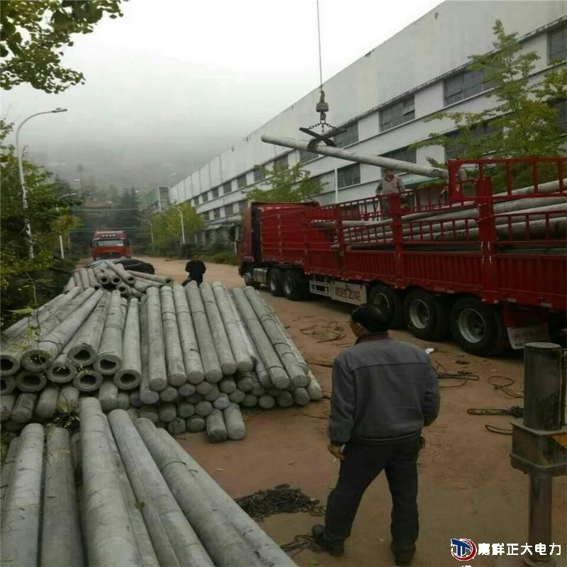 发河北承德兴隆县15米非预应力电线杆,普通钢筋混凝土电杆20根完成