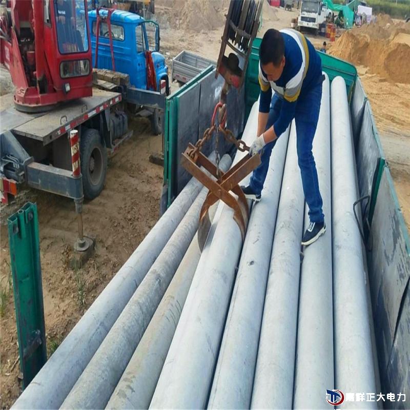 部分预应力水泥电线杆的埋设方法